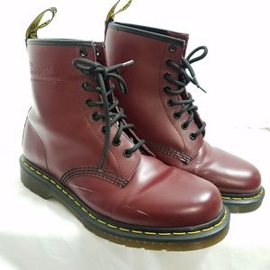 Doc Martens 1460 Cherry Red Boots Mens 8 Womens 9